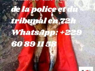 Solution rapide et très efficace pour calmer un affaires de tribunal et de la police whatsapp: +229 60 89 11 58