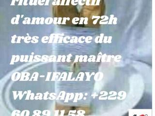 RETOUR AFFECTIF DE VOS AMOURS EN 72H DU SUPRÊME MÈTRE whatsapp: +229 60 89 11 58